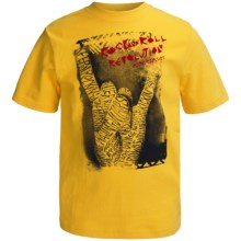 Graphic T-Shirt - Short Sleeve (For Boys) in Gold Rock & Roll - 2nds