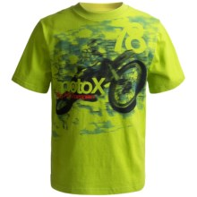 Graphic T-Shirt - Short Sleeve (For Boys) in Lime Motox - 2nds