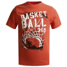 Graphic T-Shirt - Short Sleeve (For Boys) in Orange Basketball - 2nds