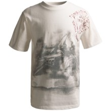 Graphic T-Shirt - Short Sleeve (For Boys) in White Airplane - 2nds