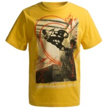 Graphic T-Shirt - Short Sleeve (For Boys) in Yellow Ride The Wall - 2nds