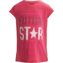 Graphic T-Shirt - Short Sleeve (For Girls) in Pink Future Start - 2nds