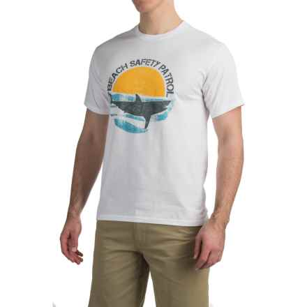 Graphic T-Shirt - Short Sleeve (For Men) in Beach Safety Patrol/White - 2nds