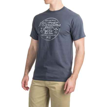 Graphic T-Shirt - Short Sleeve (For Men) in Ocean Peak/Vintage Navy - 2nds