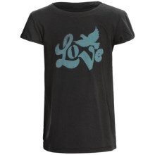 Graphic T-Shirt - Short Sleeve (For Toddlers) in Black Love Dove - 2nds