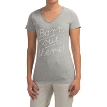 Graphic T-Shirt - Short Sleeve (For Women) in Grey Heather/Born Out There - 2nds