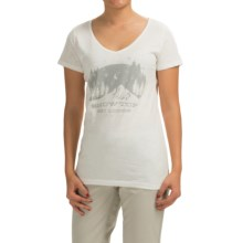 Graphic T-Shirt - Short Sleeve (For Women) in Ivory/Snowtop - 2nds