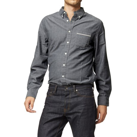 Grayers Selvedge Chambray Shirt Long Sleeve (For Men)