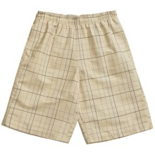 Grayson Check Swim Trunks (For Men) in Tan/Blue/Green - Closeouts