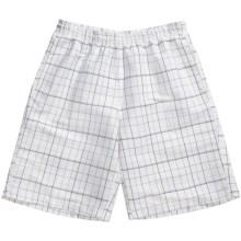 Grayson Plaid Board Shorts (For Men) in White - Closeouts