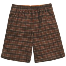 Grayson Plaid Swim Trunks (For Men) in Brown - Closeouts