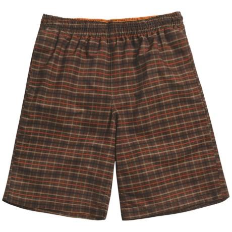 Grayson Plaid Swim Trunks (For Men) in Brown