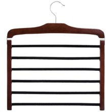 Great American Hanger Co. 6-Bar Trouser Hanger in Walnut W/Felt Bar - Overstock