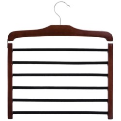 Great American Hanger Co. 6-Bar Trouser Hanger in Walnut W/Felt Bar