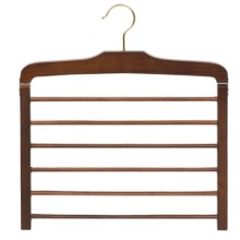 Great American Hanger Co. 6-Bar Trouser Hanger in Walnut - Closeouts
