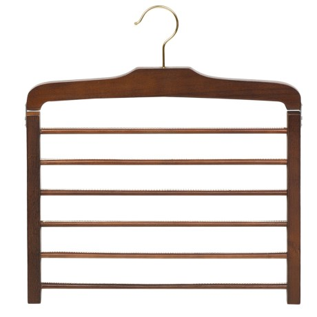 Great American Hanger Co. 6-Bar Trouser Hanger in Natural W/Felt Bar