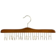 Great American Hanger Co. Belt Hanger - 12-Belt Capacity, Brass in Walnut - Closeouts