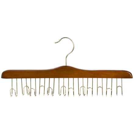 Great American Hanger Co. Belt Hanger - 12-Belt Capacity, Brass in Walnut - Closeouts