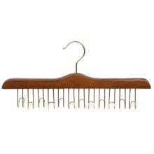 Great American Hanger Co. Belt Hanger - 12 Belt Capacity, Chrome in Walnut - Overstock