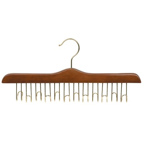 Great American Hanger Co. Belt Hanger - 12 Belt Capacity, Chrome in Walnut