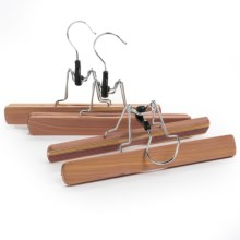 Great American Hanger Co. Cedar Clamp Pants Hangers - 3-Pack in Cedar - Overstock