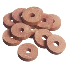 Great American Hanger Co. Cedar Closet Rings - Set of 12 in Cedar - Closeouts