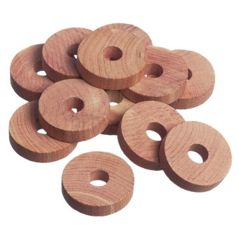 Great American Hanger Co. Cedar Closet Rings - Set of 12 in Cedar