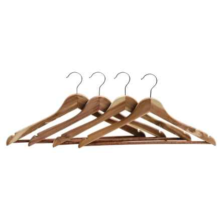 Great American Hanger Co. Cedar Hangers - 4-Pack in Cedar - Closeouts
