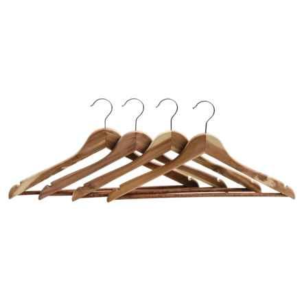 Great American Hanger Co. Cedar Hangers - 4-Pack in Cedar - Closeouts