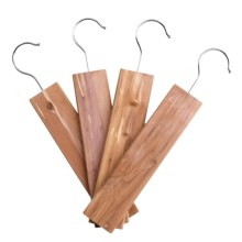 Great American Hanger Co. Cedar Hangups - 4-Pack in Cedar - Closeouts