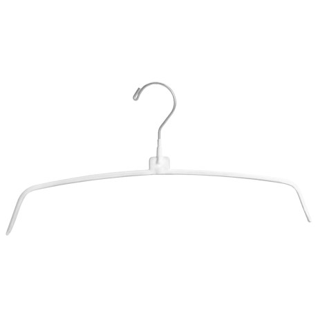 Great American Hanger Co. Knitwear Hangers - Set of 25, Coated Metal in White