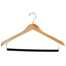 Great American Hanger Co. Natural Finish Suit Hanger - Black Velvet Bar, 25-Pack in Natural - Overstock