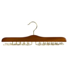 Great American Hanger Co. Tie Hanger - 24-Tie Capacity, Brass in Walnut - Closeouts