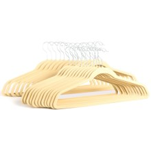 Great American Hanger Co. Velvet Slimline Hangers - 25-Pack in Beige - Overstock