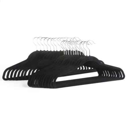 Great American Hanger Co. Velvet Slimline Hangers - 25-Pack in Black - Overstock