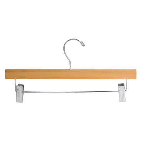 Great American Hanger Co. Wooden and Chrome Pant-Skirt Hangers - 25-Pack
