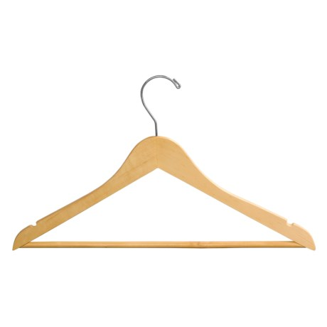 Great American Hanger Co. Wooden Suit Hangers - 25 Pack in Natural
