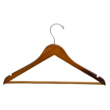 Great American Hanger Co. Wooden Suit Hangers - 25 Pack in Walnut - Closeouts