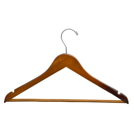 Great American Hanger Co. Wooden Suit Hangers - 25 Pack in Walnut