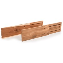 Great American Hanger Company Adjustable Cedar Drawer Dividers - 2-Pack in Cedar - Overstock