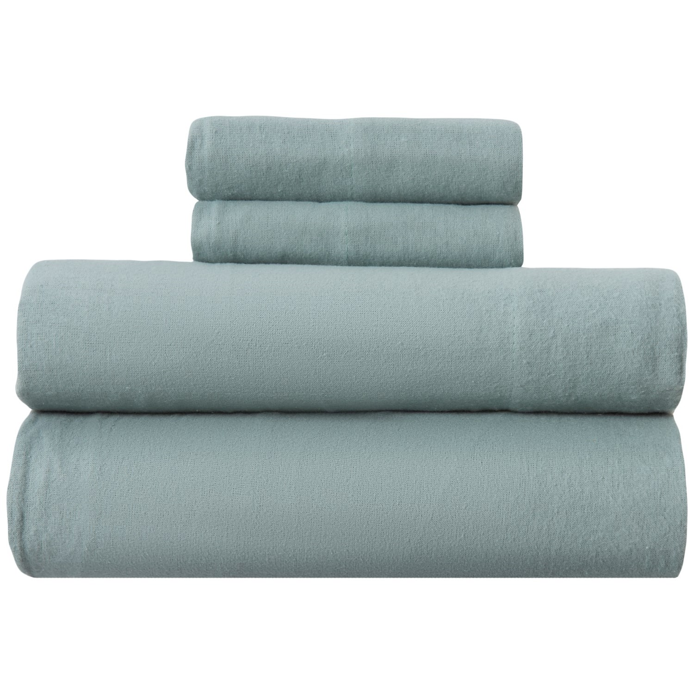 Great Bay Flannel Seafoam Turkish Cotton Flannel Sheet Set