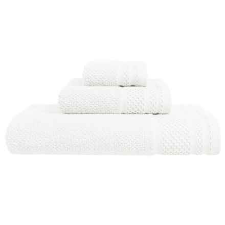 Great Bay Helena Turkish Cotton Bath Towel in White - Closeouts