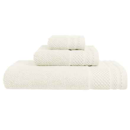 Great Bay Helena Turkish Cotton Washcloth in Ivory - Closeouts