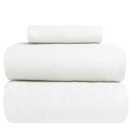 Great Bay Home Heavyweight Flannel Sheet Set - Twin in Winter White - Closeouts