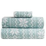 Great Bay Home Stratton Printed Flannel Sheet Set - Twin