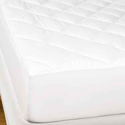 Great Bay Rita Antimicrobial Mattress Pad - Queen, 200TC in White - Closeouts