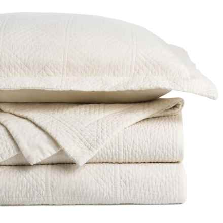 Great Bay Vanessa Stonewash Quilt Set - King in Ivory - Closeouts