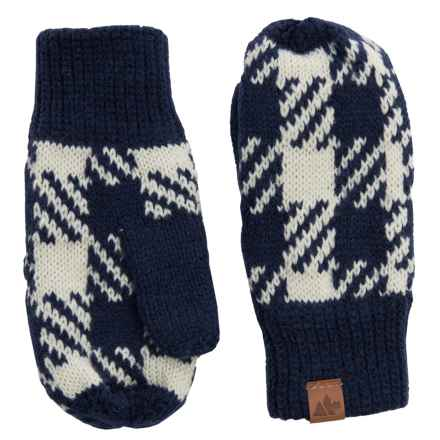 Great Northern Knit Mittens (For Little Kids) in Blue/White - Closeouts