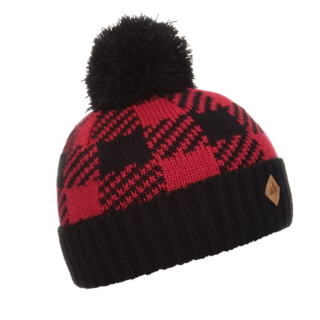 Great Northern Lined Hat (For Little Kids) in Black/Red