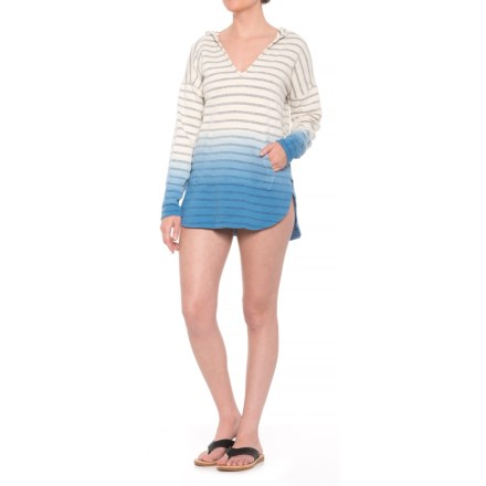 a916200b0ee41 Green Dragon Hoodie Swimsuit Cover-Up - Long Sleeve (For Women) in Indigo